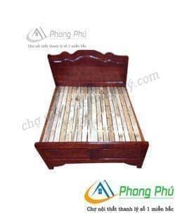 Giường gỗ keo 1m2 Gk01