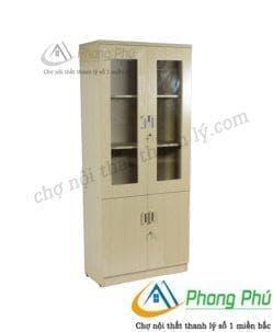 Tủ gỗ tài liệu 2 buồng TL01
